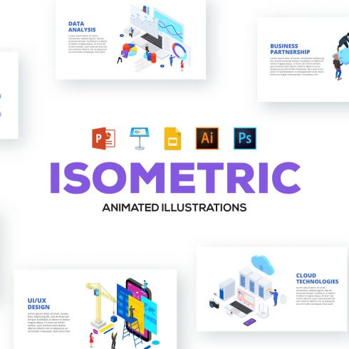 46 Isometric Animated Illustrations - 690 1 490x490