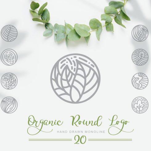 Organic Logo: Organic Round Logo Emblem - 690 490x490