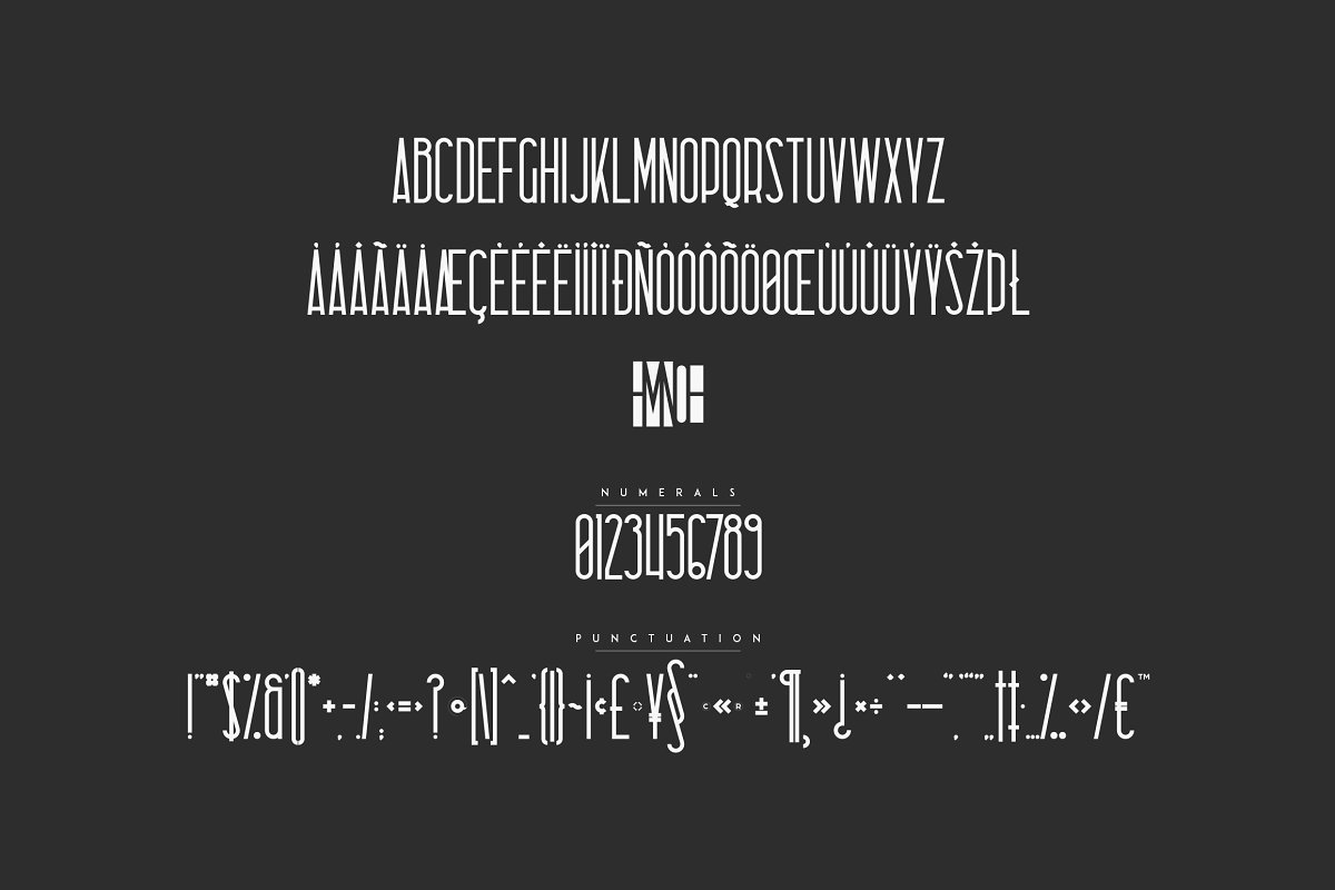 Negative Space Font Sombre - 7 2