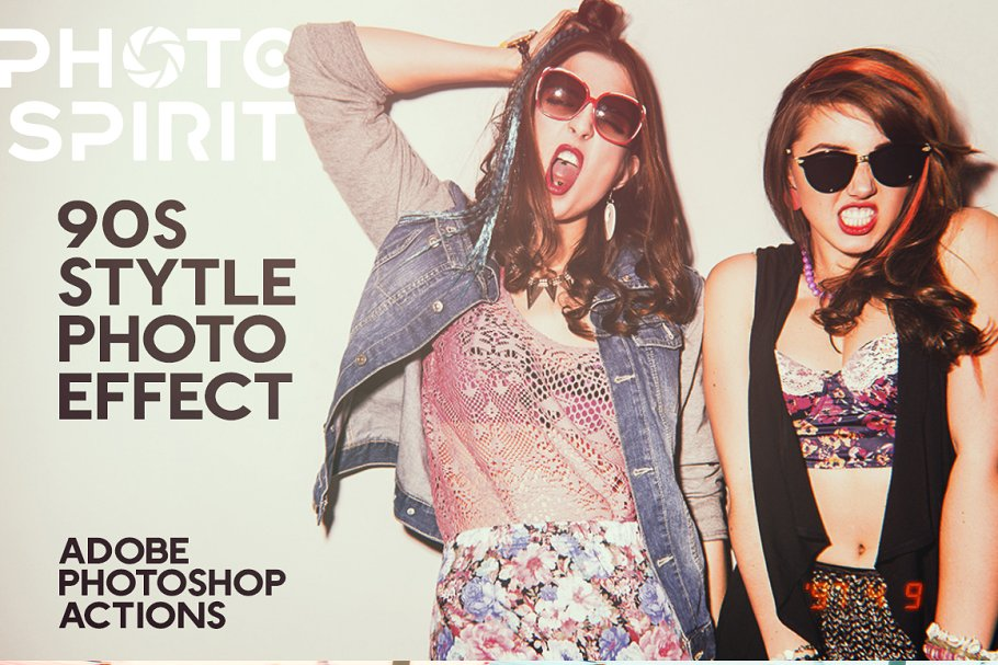 90s Style Photo Effects Photoshop - 90s style photo effects for 01