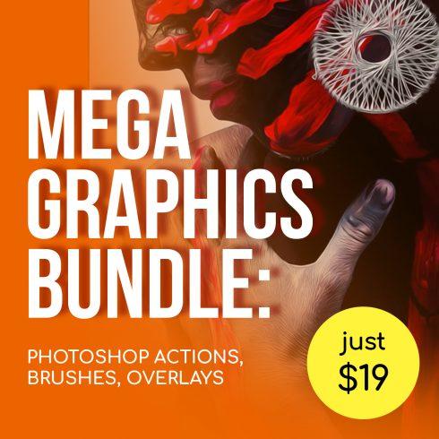 Mega Graphics Bundle: Photoshop Actions, Brushes, Overlays