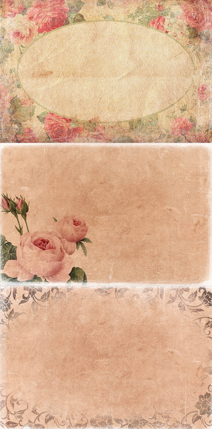 Free Vintage Backgrounds & Overlays for Photoshop - Vintage Flowers 48 copy