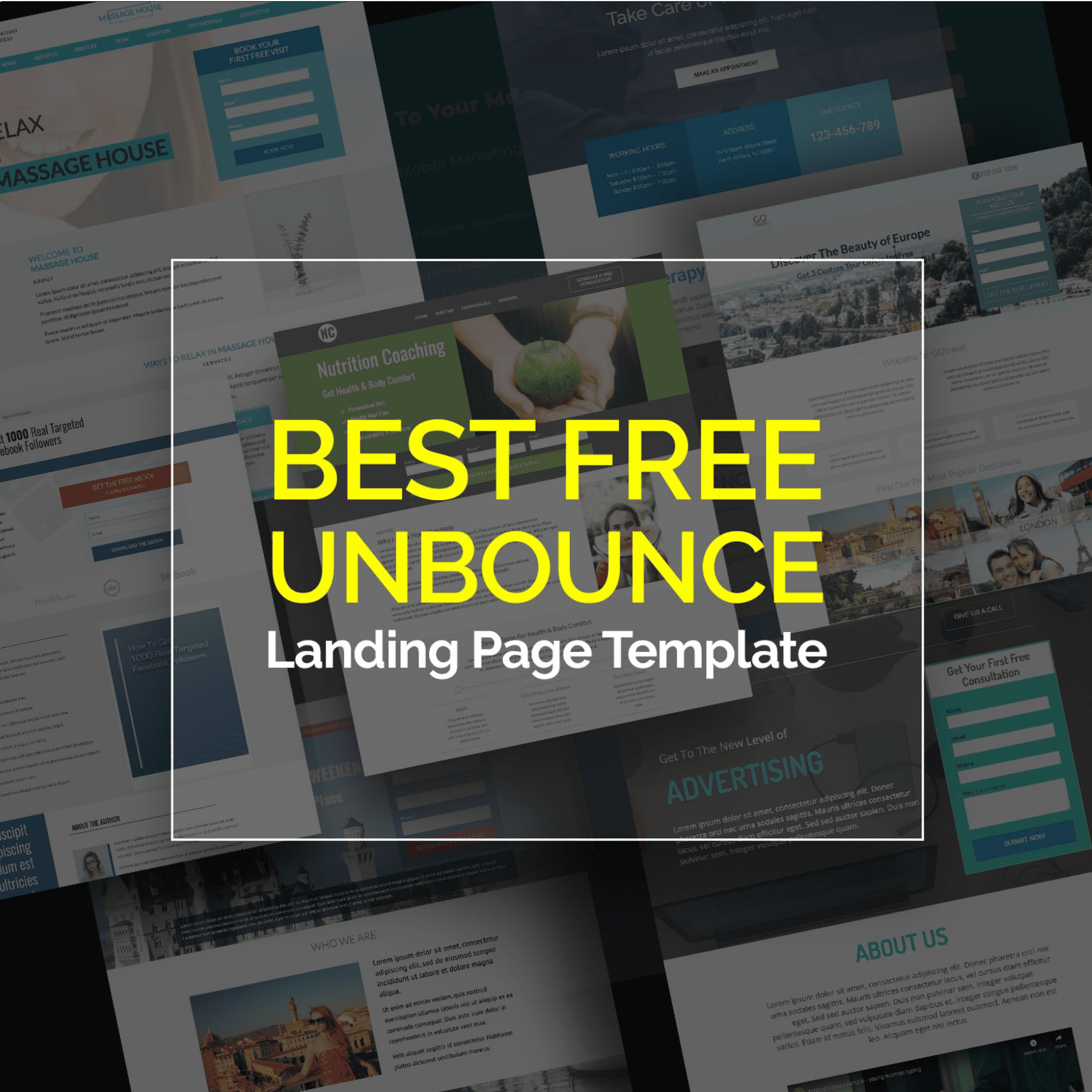 Best Free Unbounce Landing Page Template.