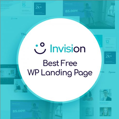 Free Wordpress Event Landing Page - Invision.