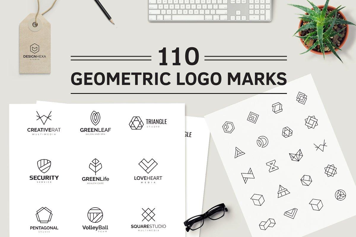 110 Geometric Logo Pack - cover