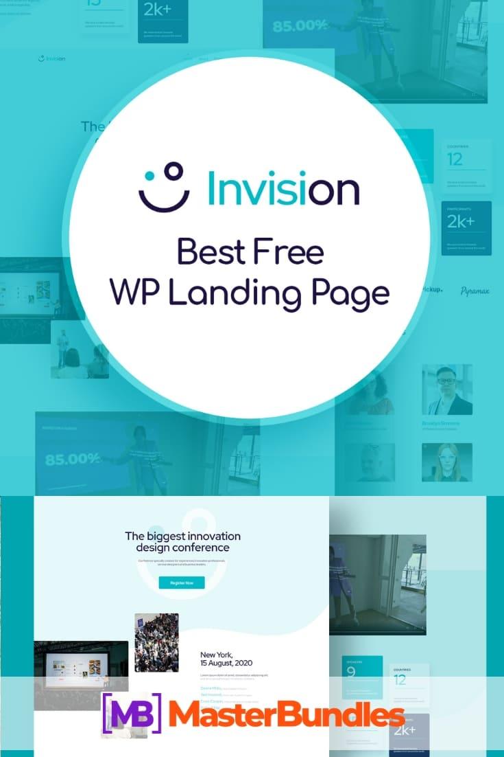 Free WordPress Event Landing Page. Pinterest Image.