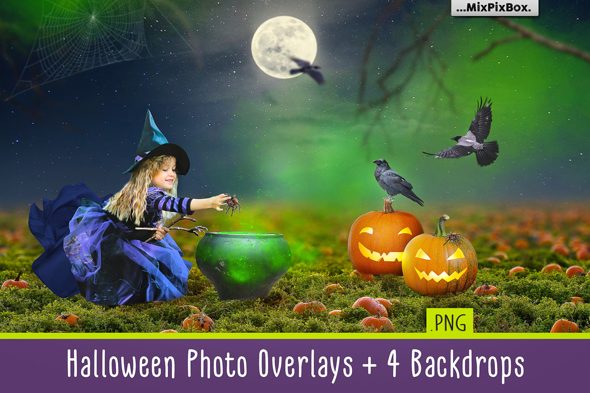 55 halloween photo overlays.