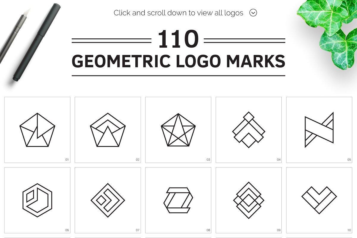 110 Geometric Logo Pack - main prev
