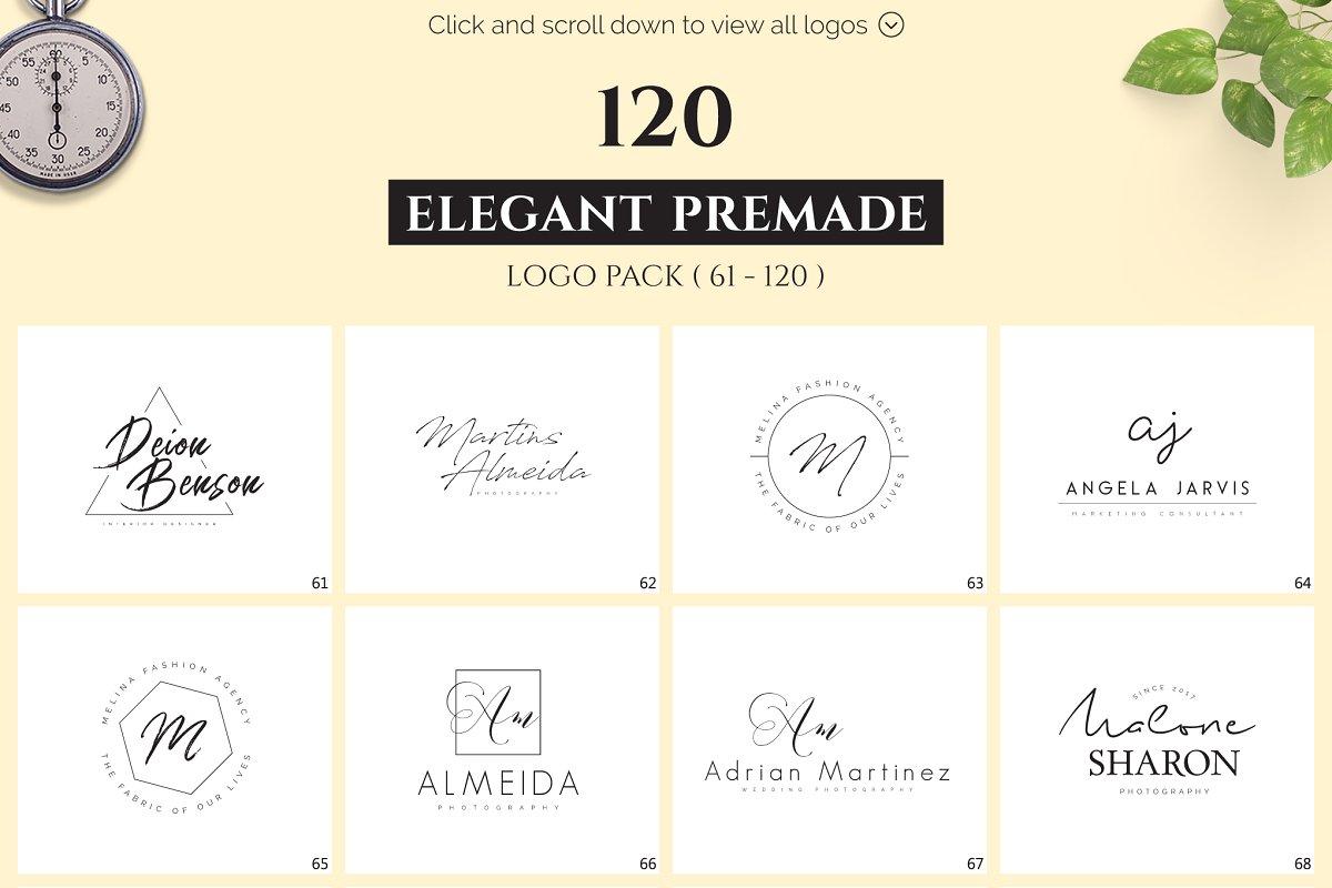 120 Elegant Premade Logo Pack 2020 - main prev 02