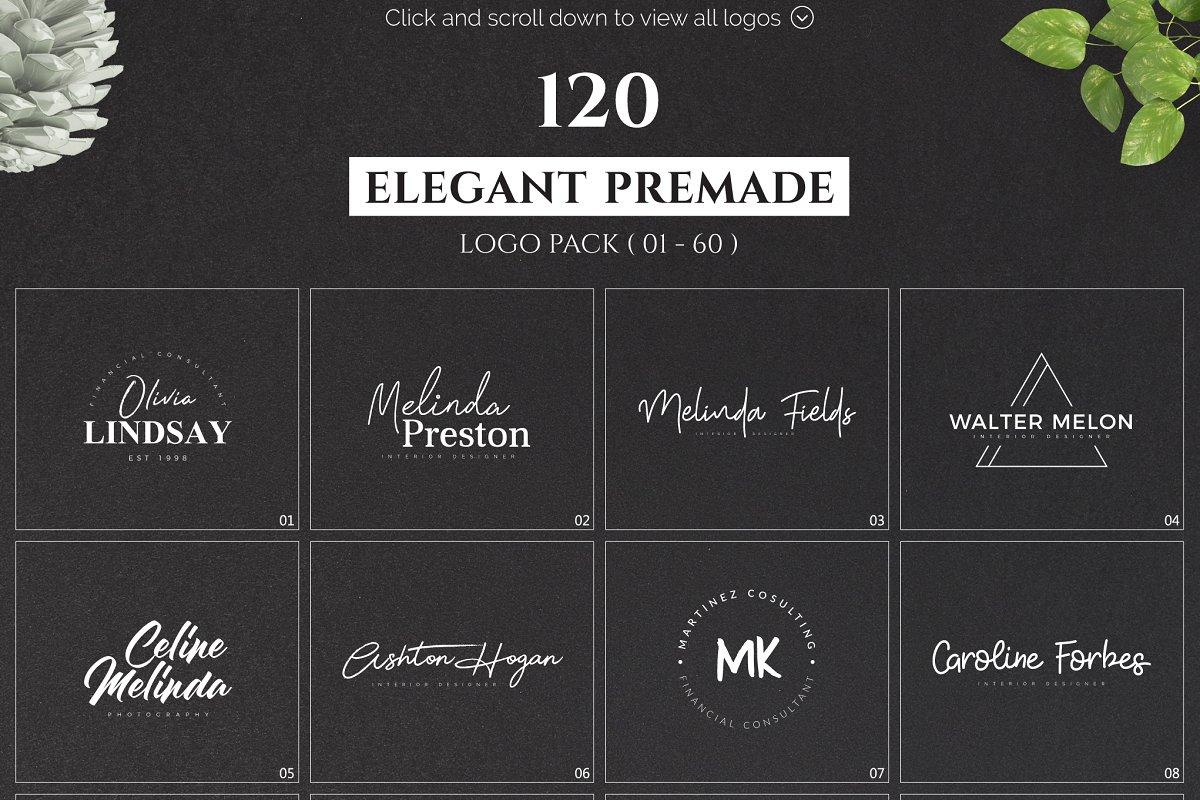 120 Elegant Premade Logo Pack 2020 - main prev 03