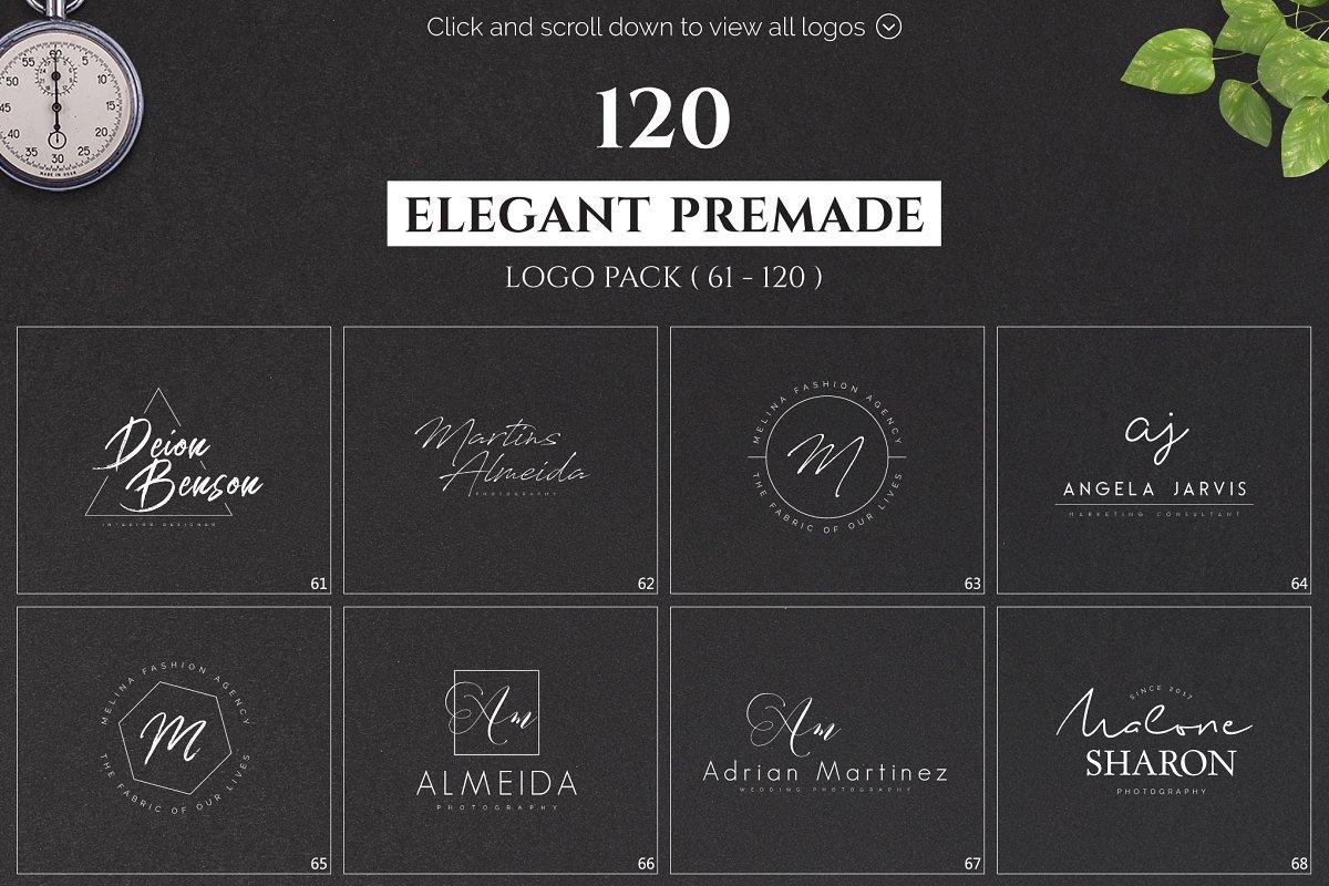 120 Elegant Premade Logo Pack 2020 - main prev 04