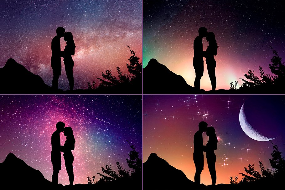 Night Sky Photoshop Actions - night sky silhouette actions 8