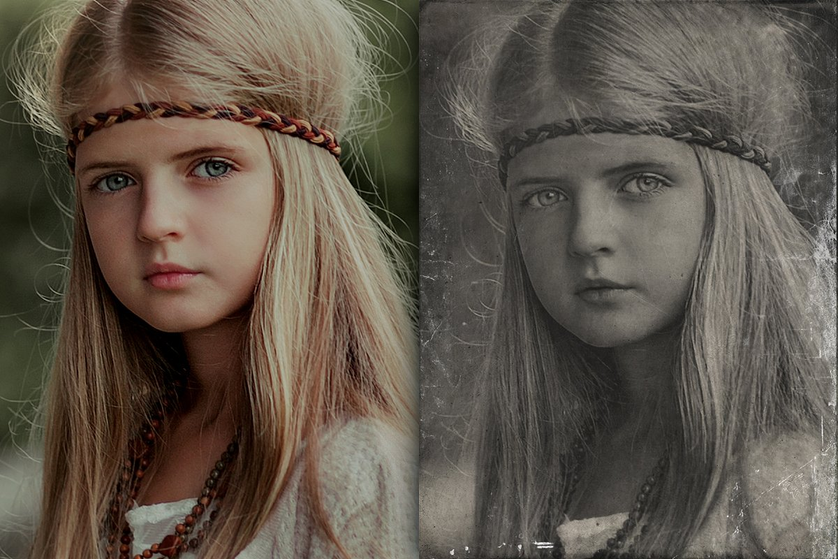 Old Photo Effect Overlays + Actions - old photo effect overlays actions 1