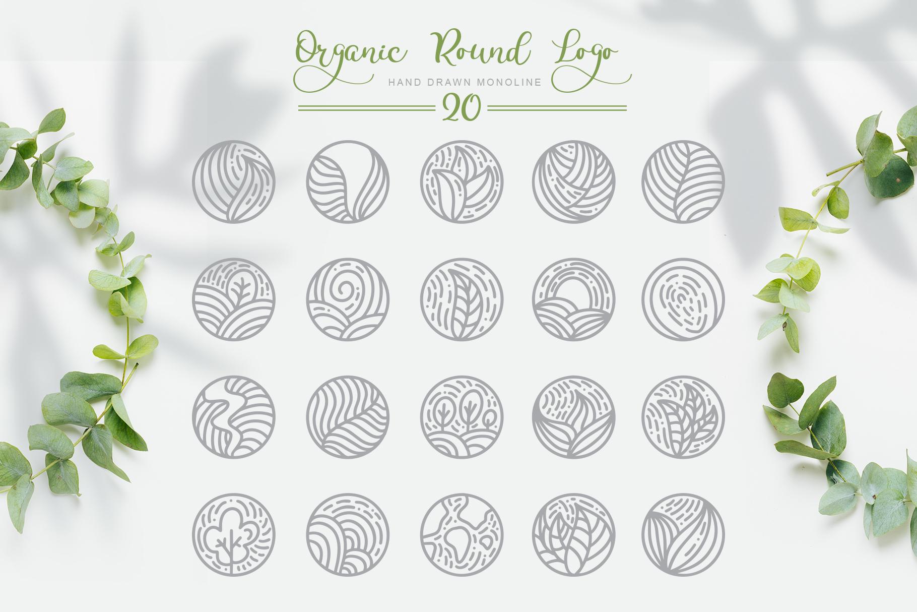 Organic Logo: Organic Round Logo Emblem - title05