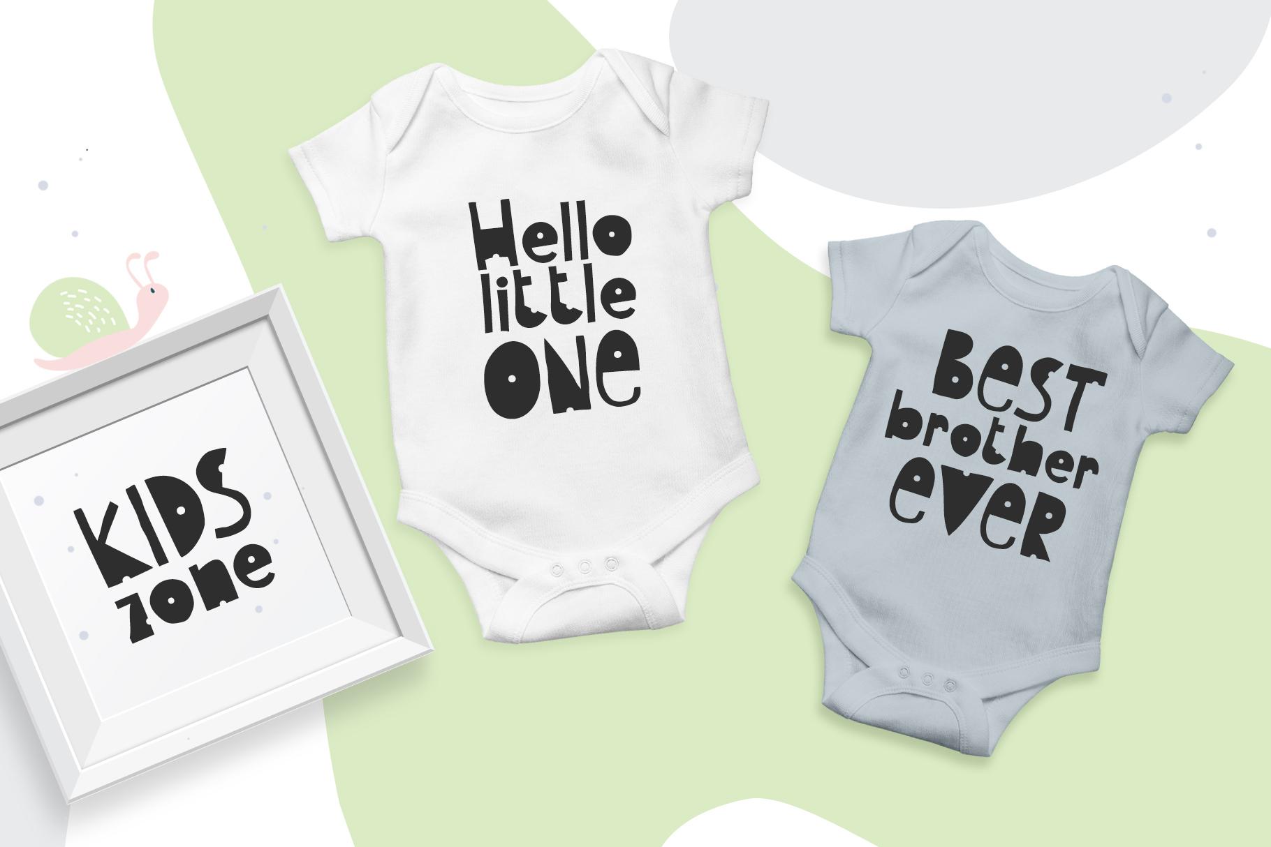 Kids Handwriting Font 2021: Hello Baby Childish Font - title06 2