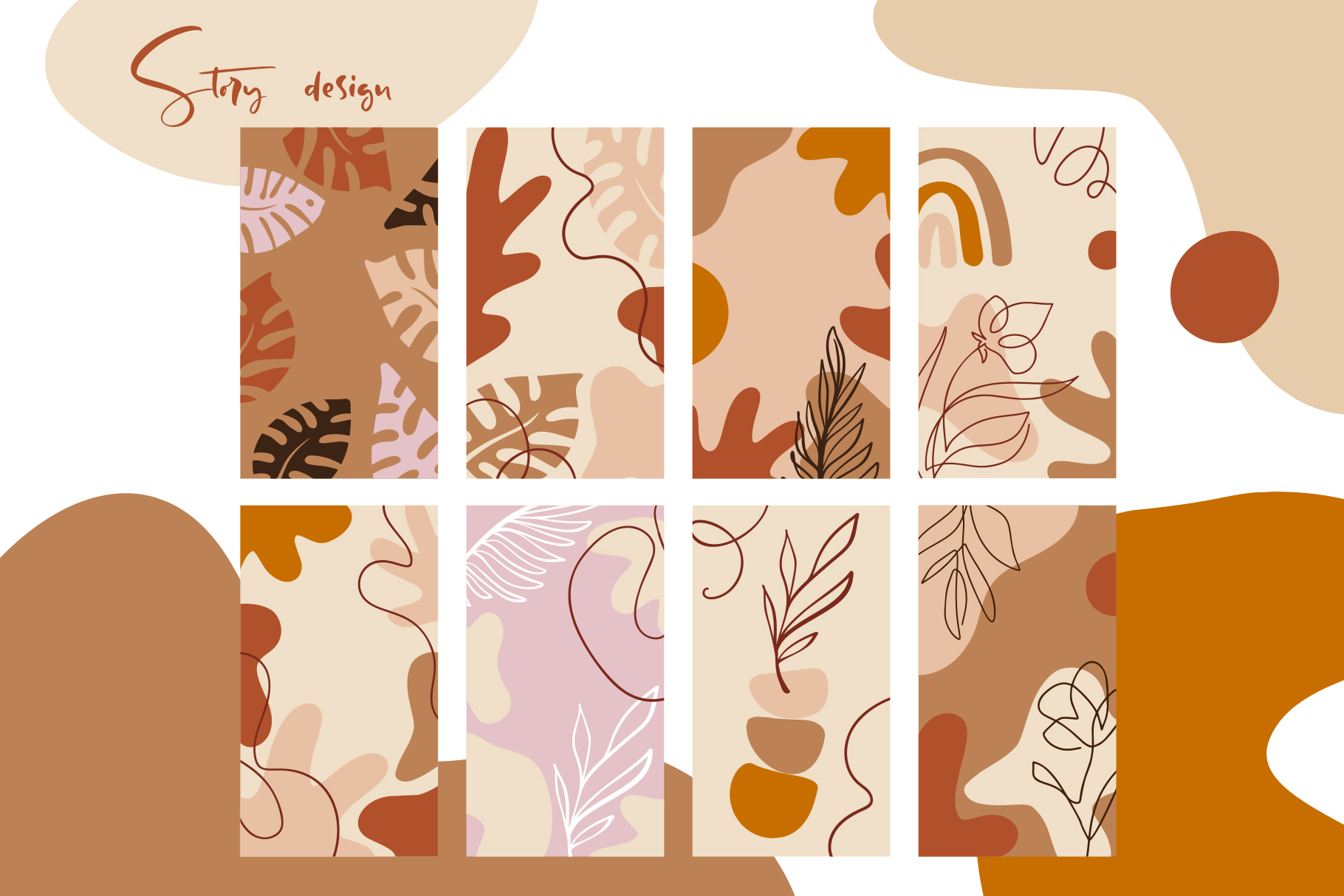 138 Vintage Abstract flowers SVG - title10