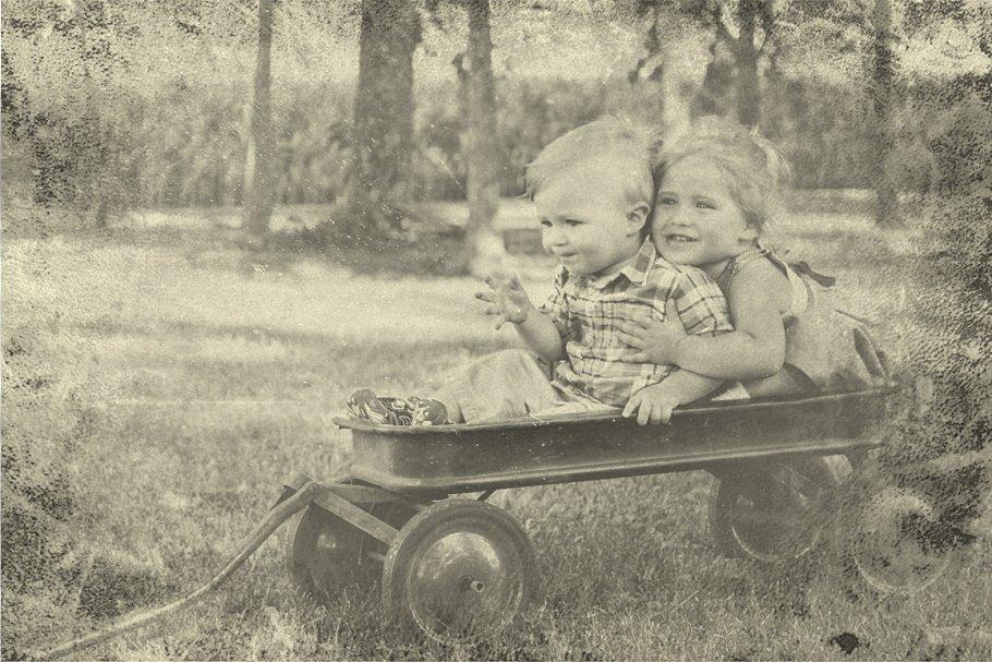 Vintage Old Photo Effect Overlays - vintage old photo effect 2