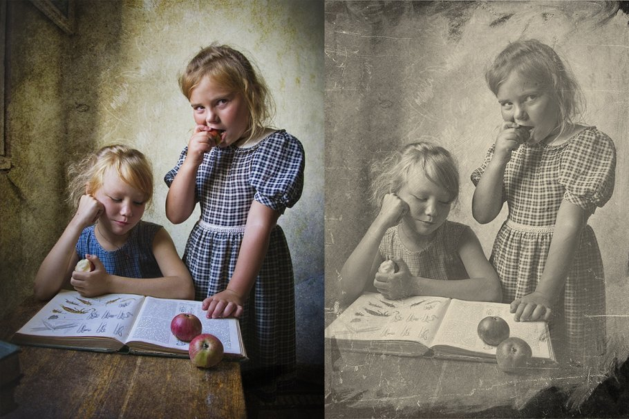 Vintage Old Photo Effect Overlays - vintage old photo effect 3