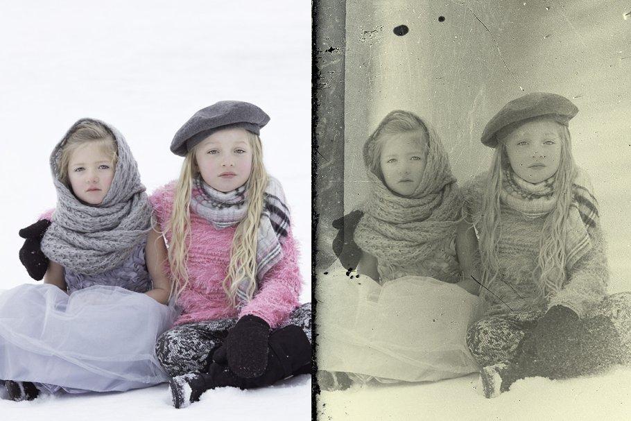 Vintage Old Photo Effect Overlays - vintage old photo effect 4