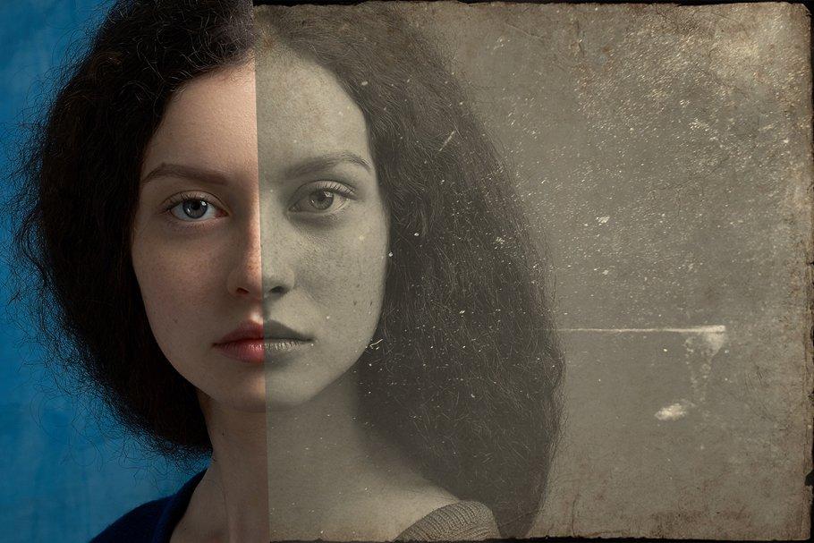 Vintage Old Photo Effect Overlays - vintage old photo effect 7