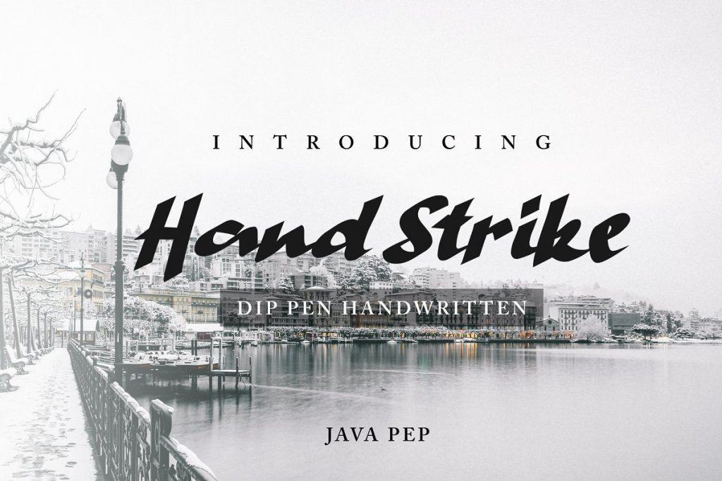 Hand Strike Handwritten Pen Font - 1 .png 2 1 1024x683