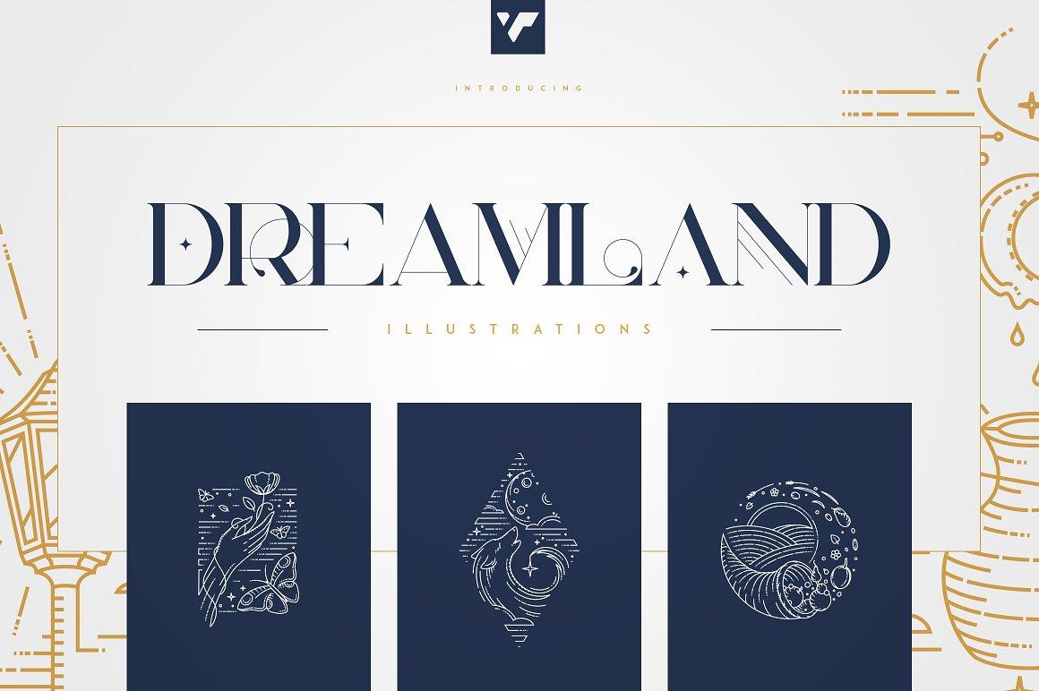 24 Line Art Illustrations Dreamland - 1 1 3