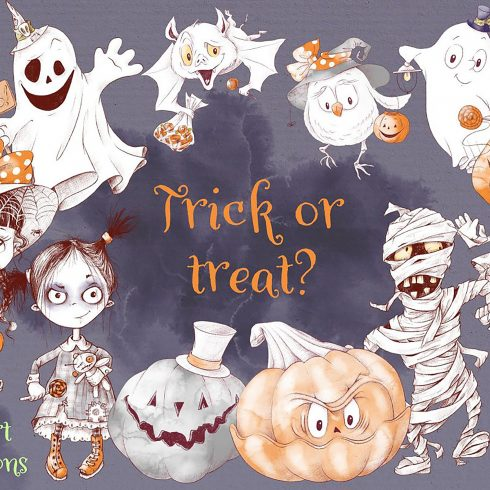 trick or treat clipart