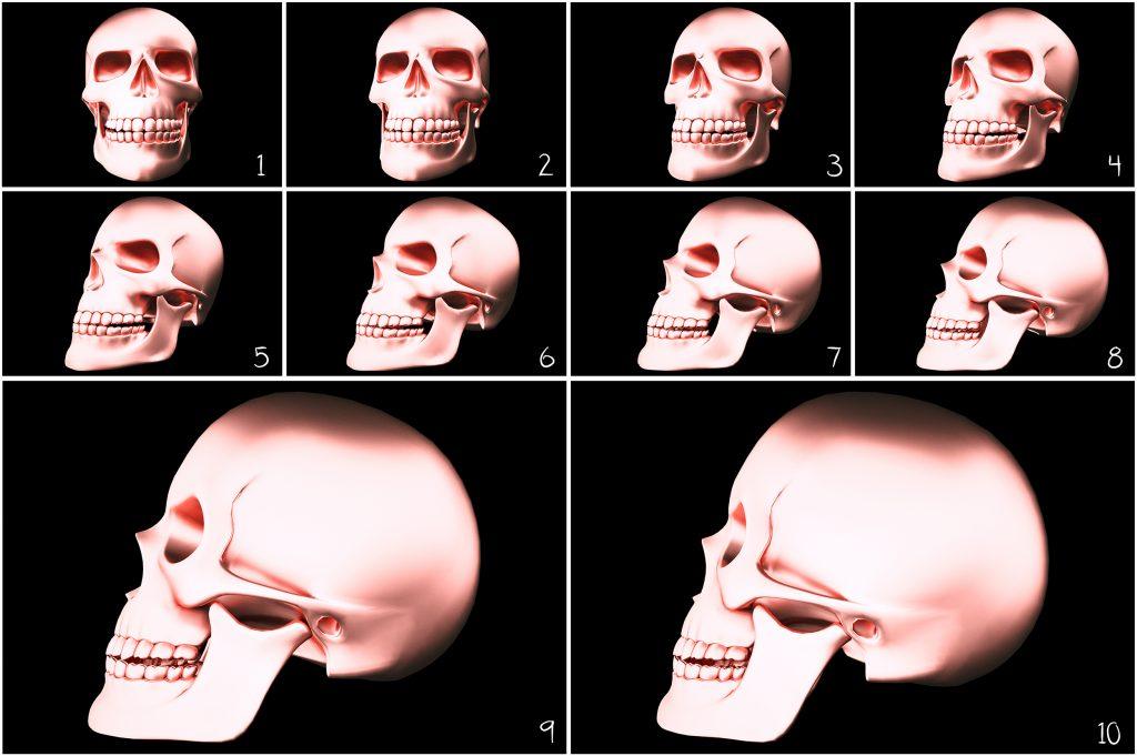 Metallic Skull Effect Halloween Bundle - 1 5 1024x681