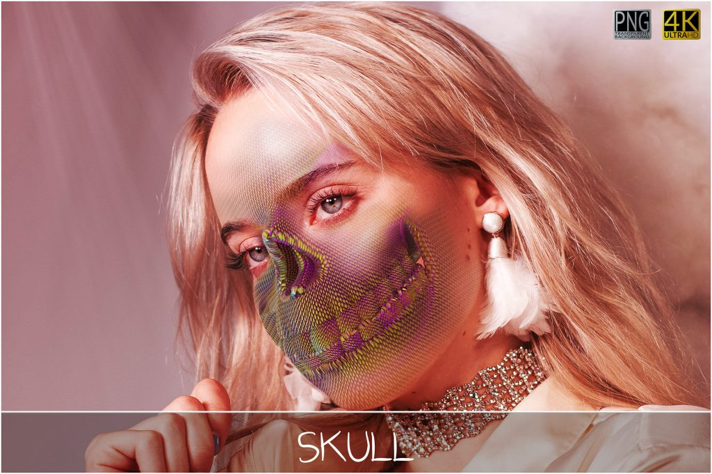 Skull PNG: Skull Textured Effect - 1 main 3 1024x681