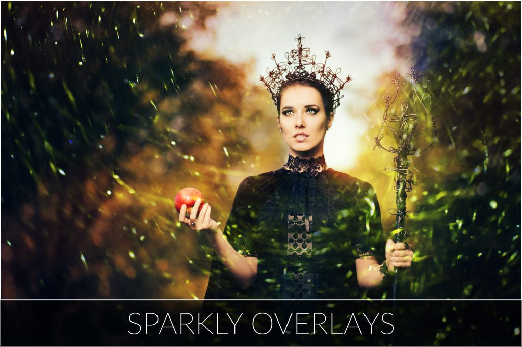 Halloween Overlays Bundle: Dark, Sparkly & Lights Overlays