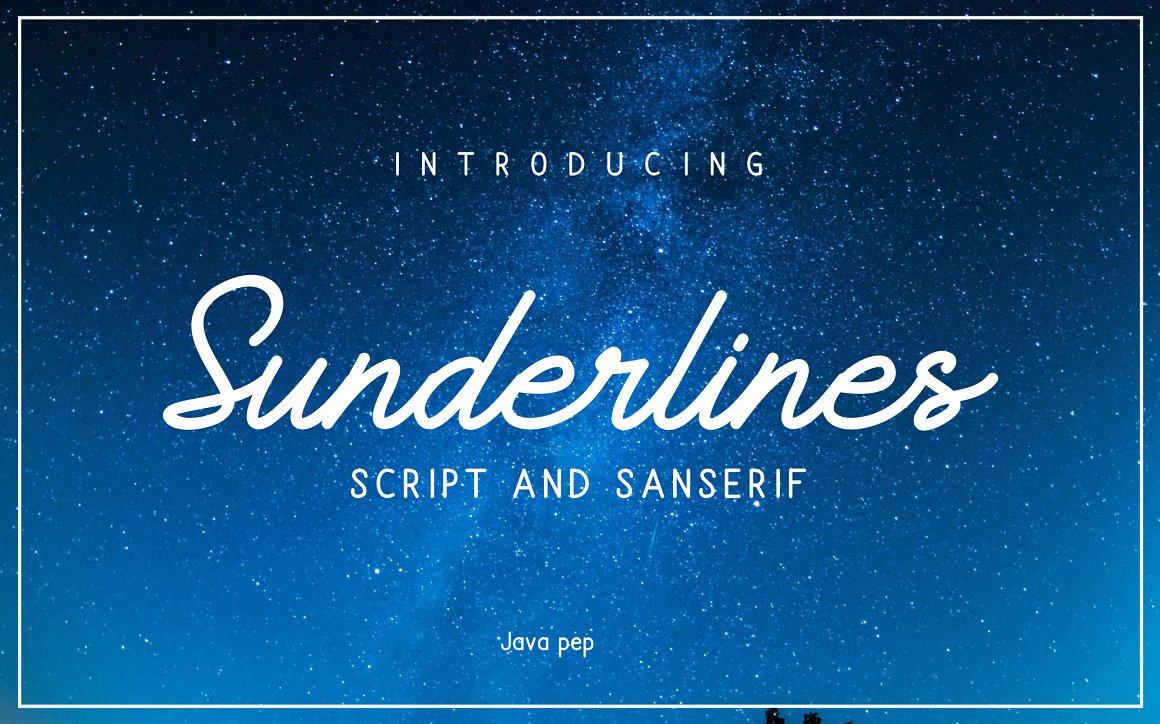 Brush Script Font Sunderlines and Sanserif - 1503952 full