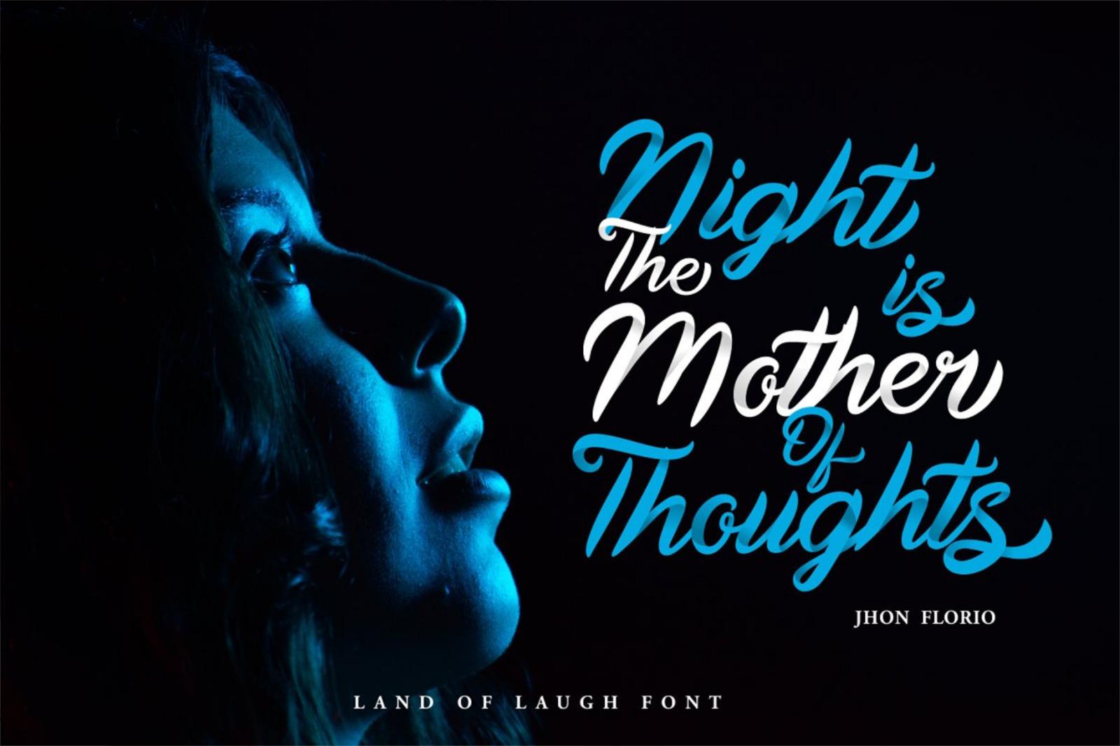 Land Of Laugh - Clean & Rough Font - 1542742 full