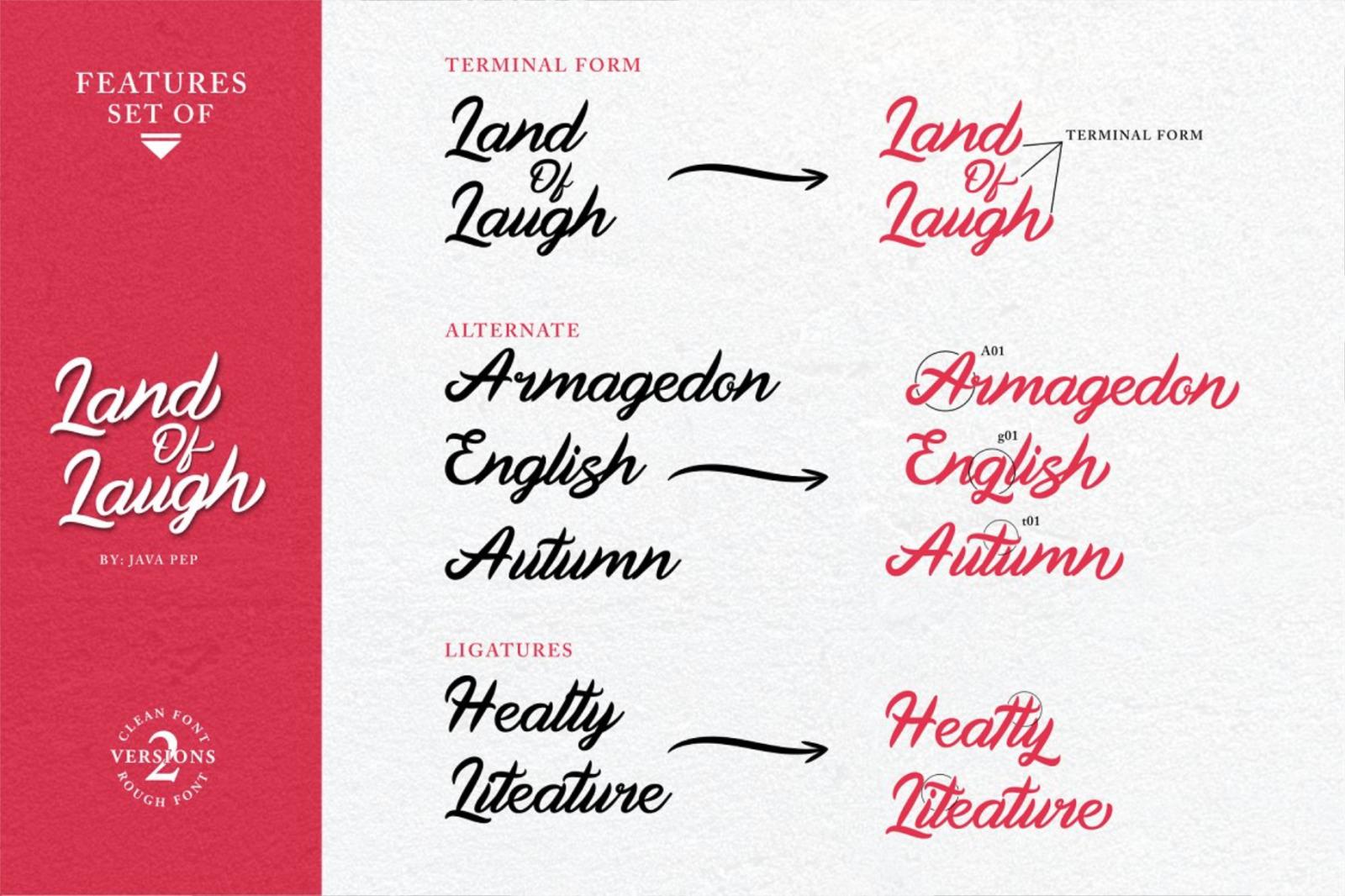 Land Of Laugh - Clean & Rough Font - 1542750 full