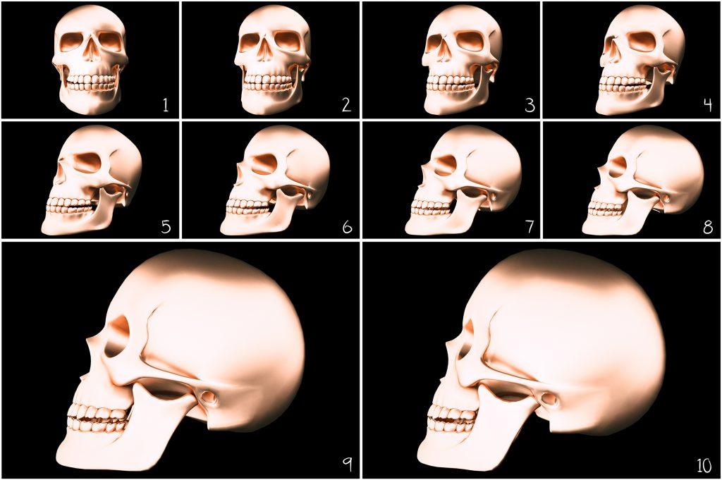 Metallic Skull Effect Halloween Bundle - 2 4 1024x681