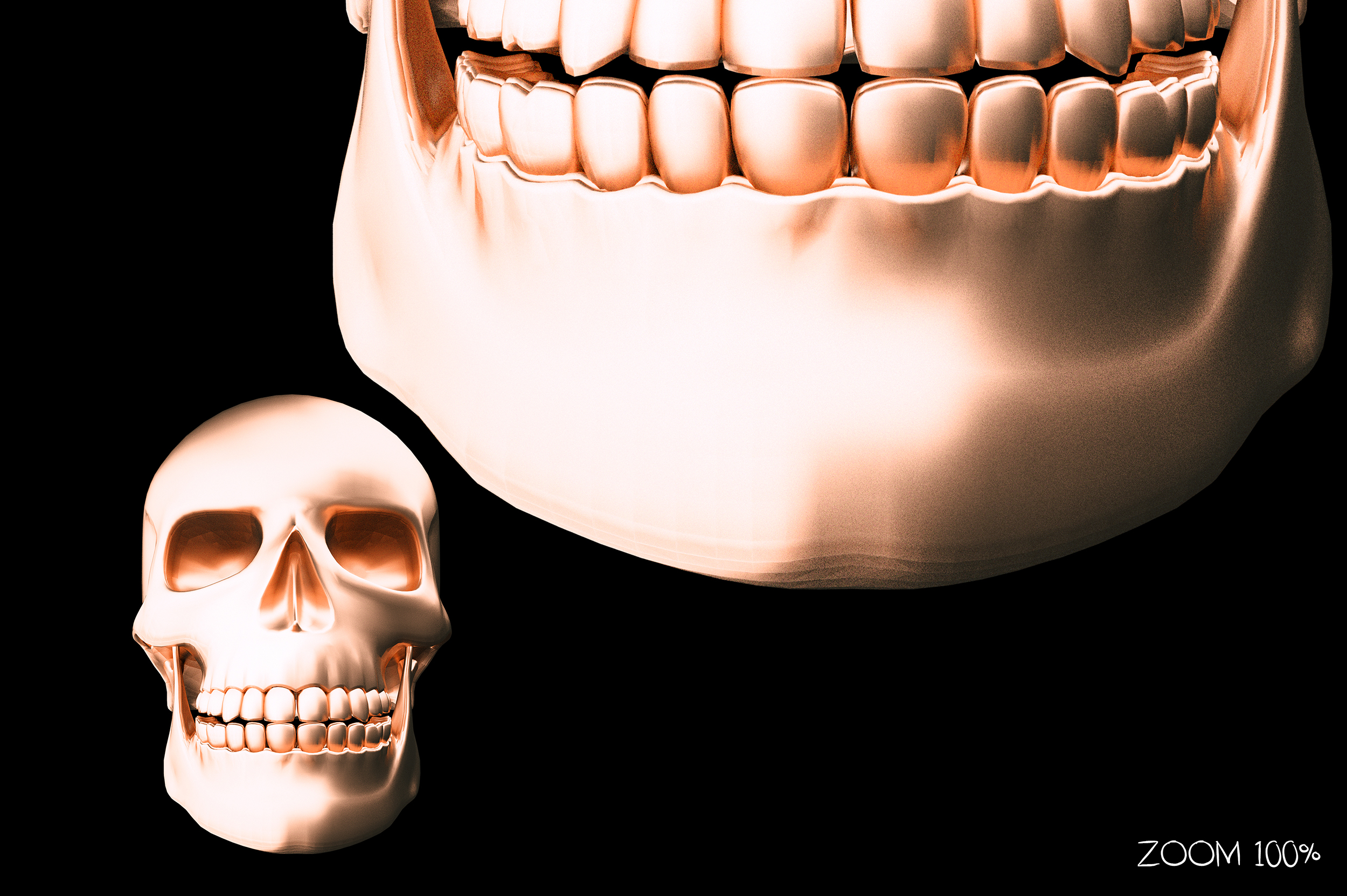Metallic Skull Effect