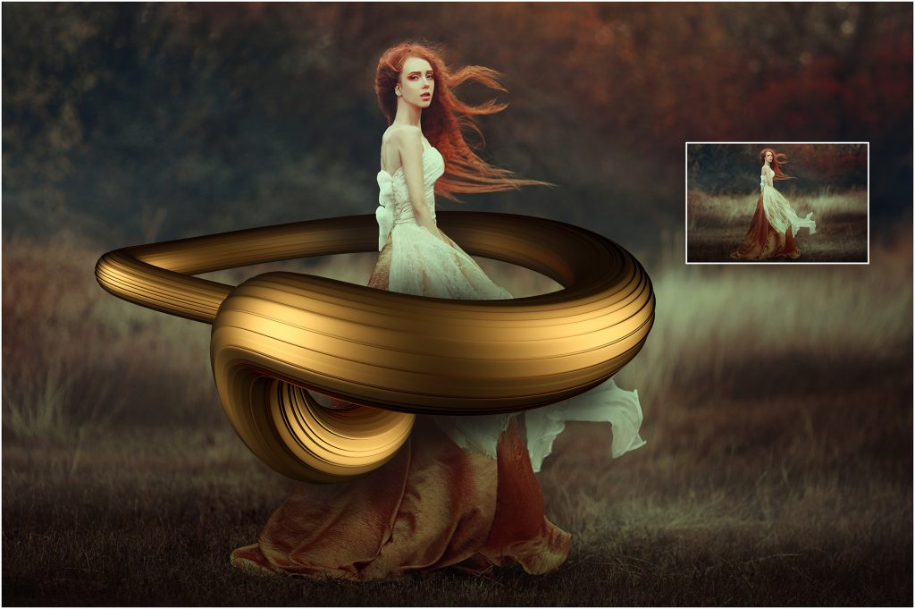 30 Swirl Overlays Photoshop Collection - 3 before after 1 1024x681