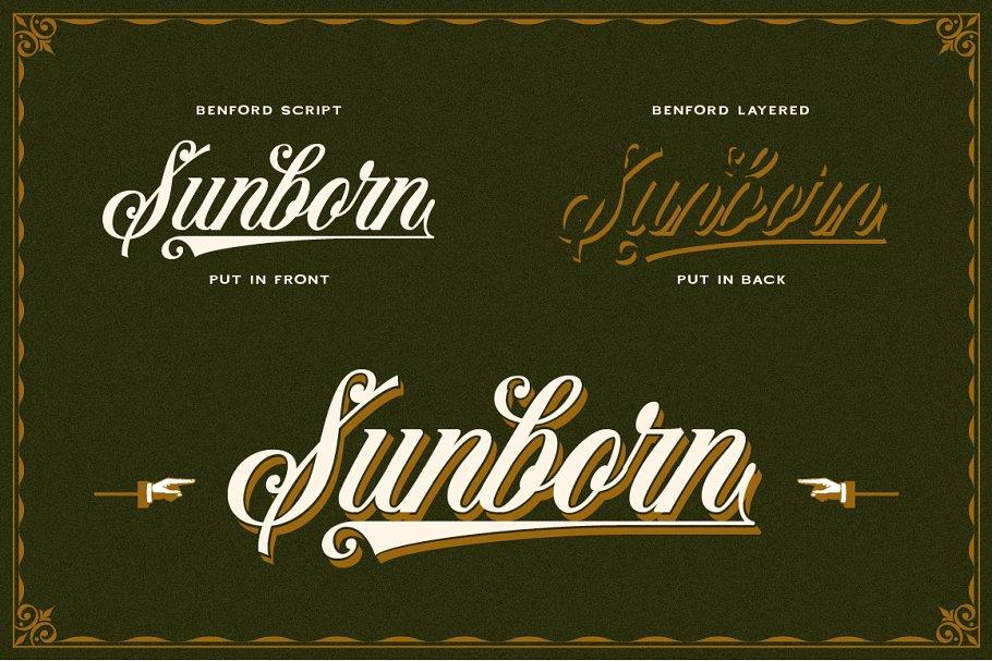 Vintage Industrial Font