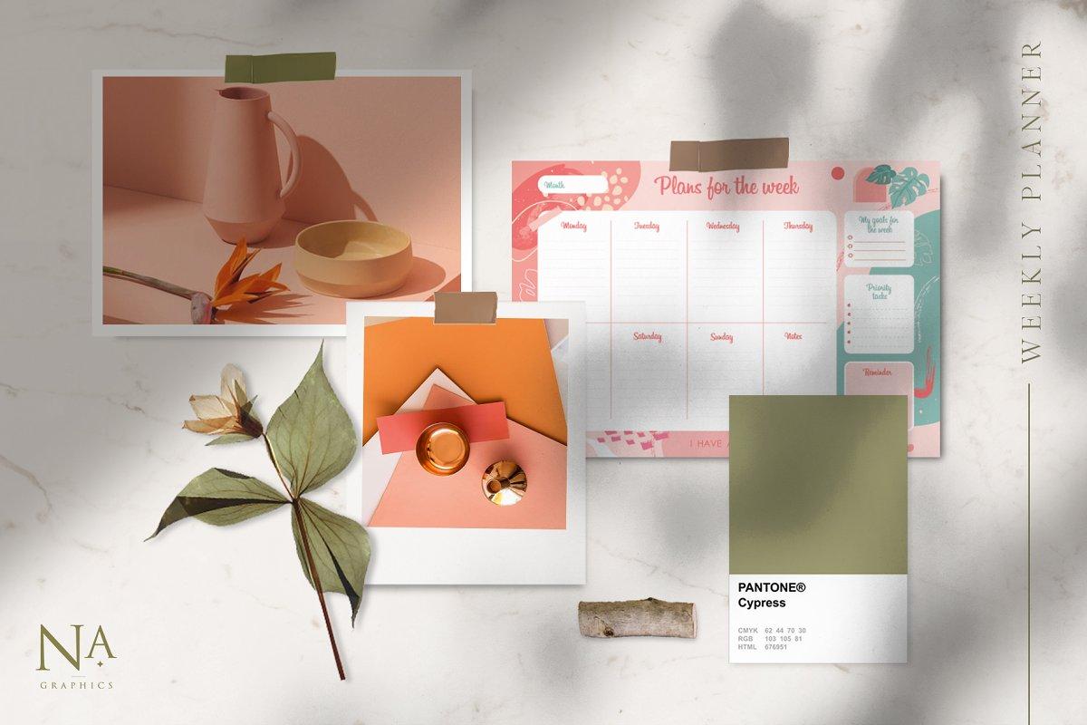 Modernistic Weekly Planner Printable - 4 1 6