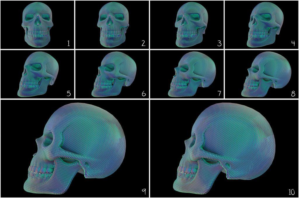 Skull PNG: Skull Textured Effect