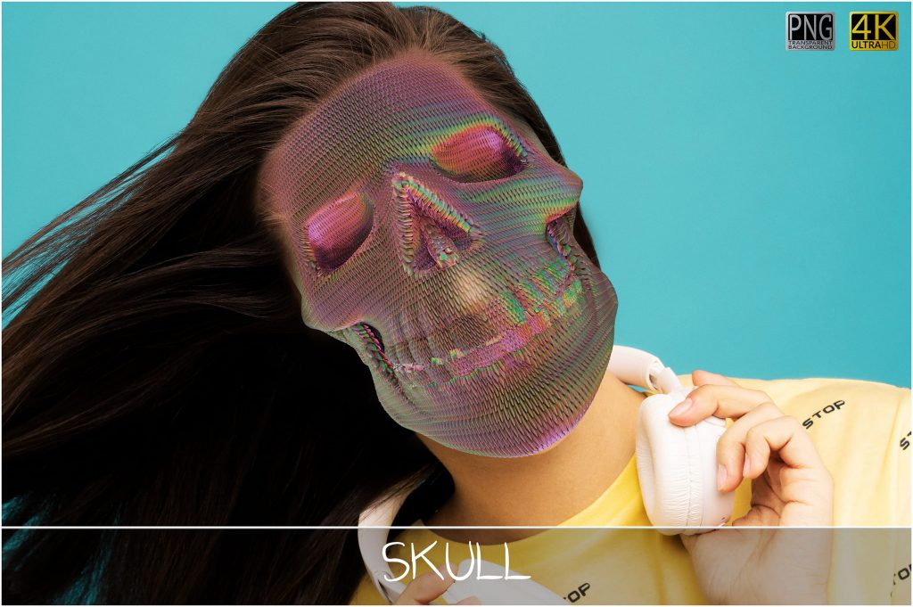6 Skull PNG Transparent Halloween Overlays - 5 main 1 1024x681