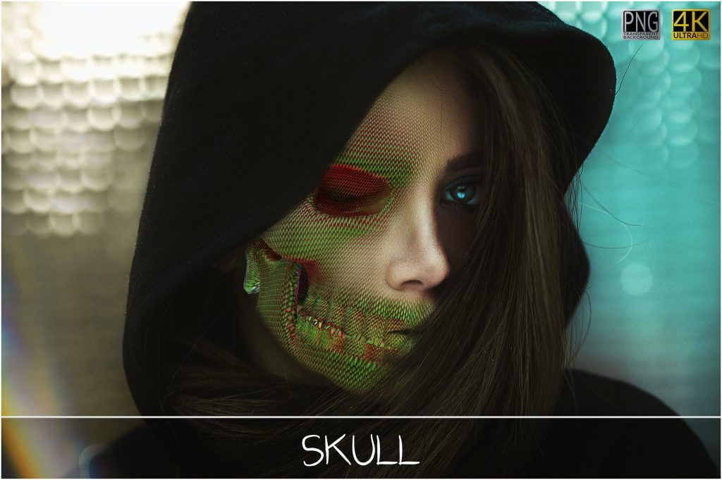 Skull PNG: Skull Textured Effect - 5 main 1024x681