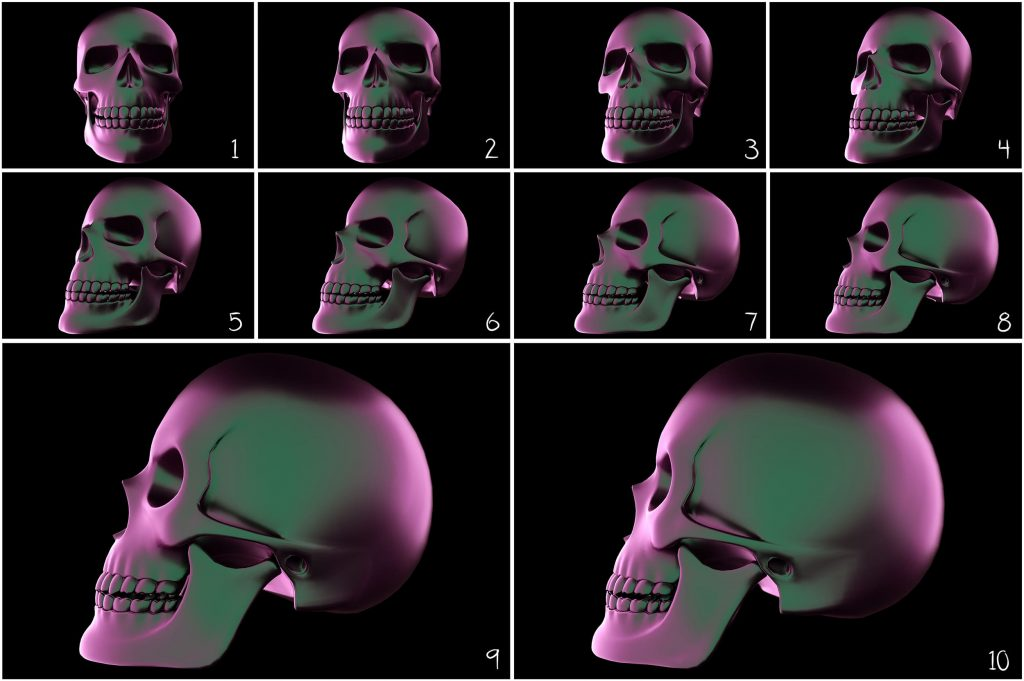 Halloween Holographic Skull Effects