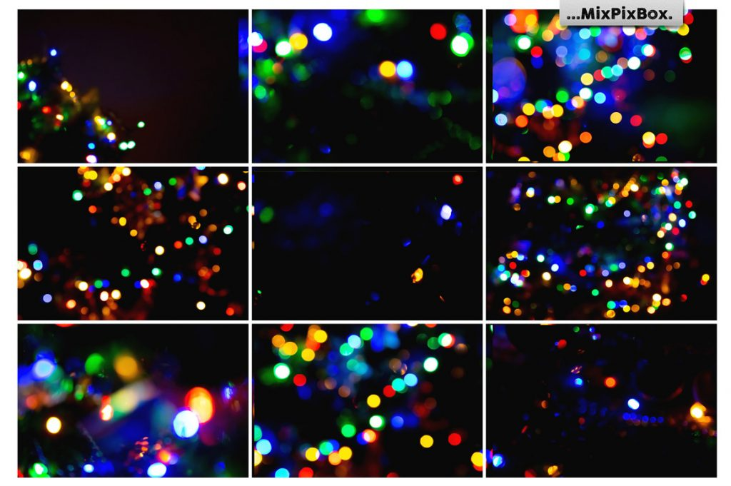 100 Colorful Bokeh Background Photo Overlays - 6 8 1024x681