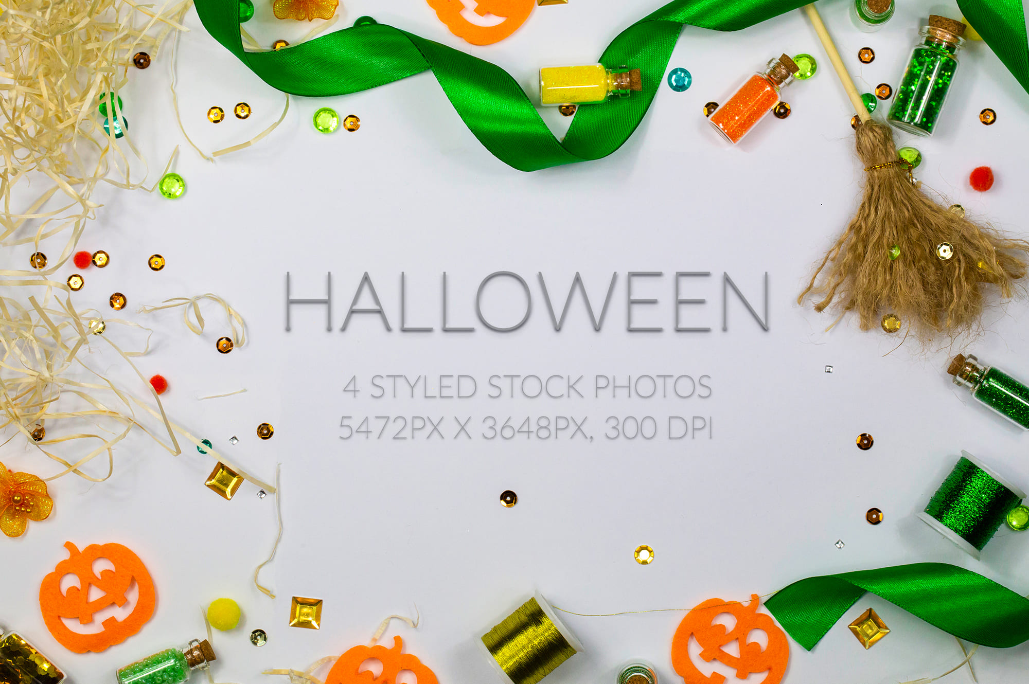 Halloween Cover Photos Bundle - 6 Halloween Stock Photos