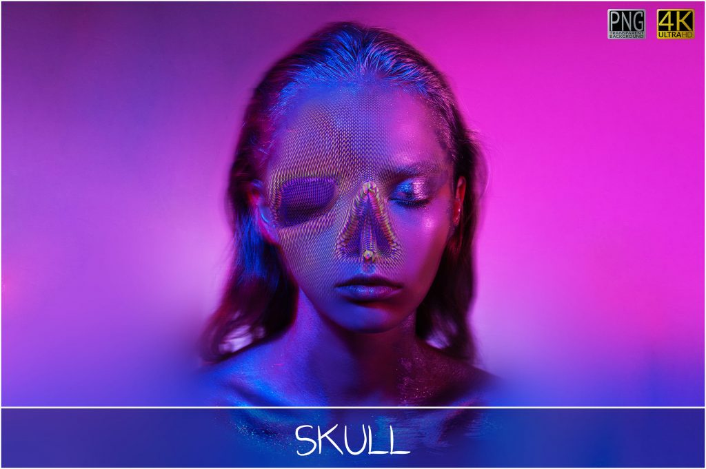 Skull PNG: Skull Textured Effect - 6 main 1024x681