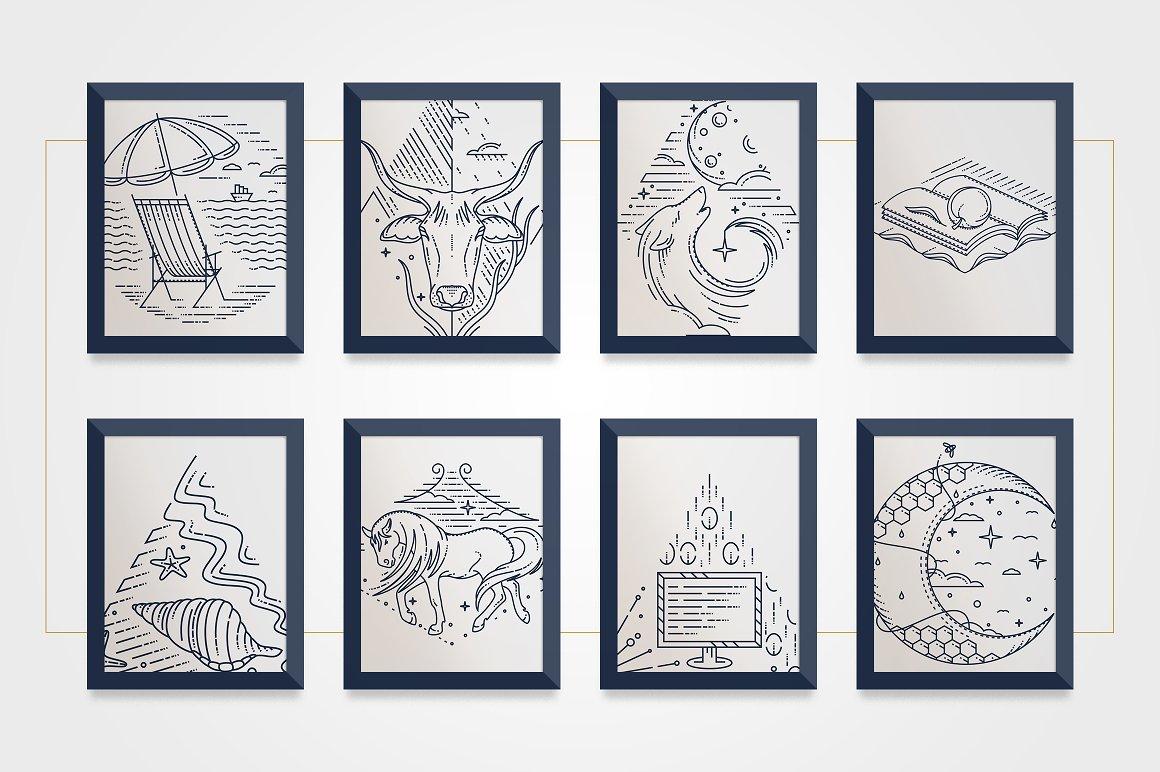 line art illustrations
