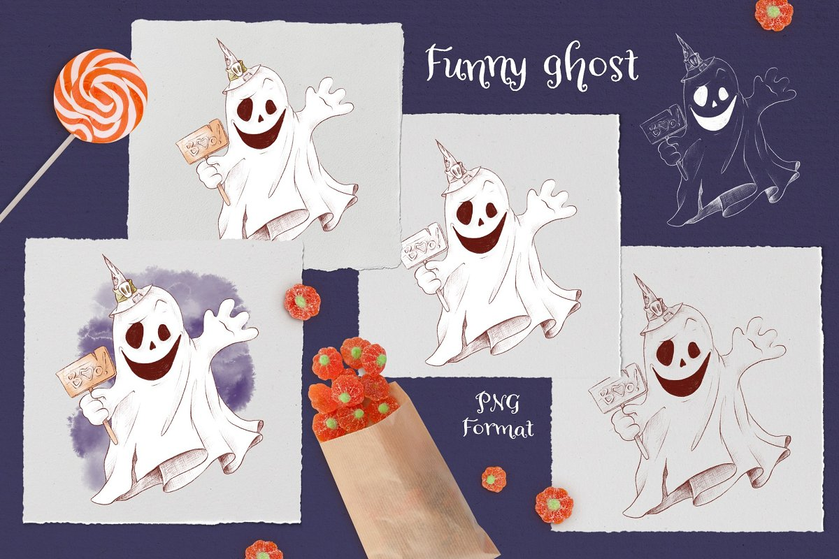 Trick or Treat Clipart: 183 Halloween Clipart PNG - 8 2 4