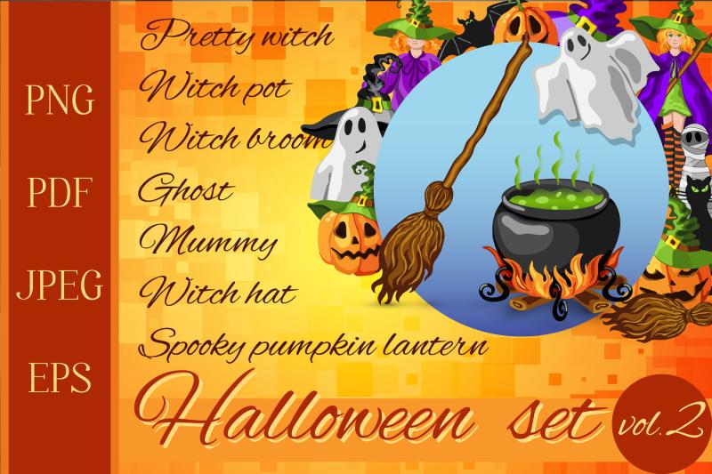 Set of Halloween Cartoon Characters - 800 3495446 5e2fea4c45752023625ab59c8a3aad1e104bf773 halloween cartoon style graphic set