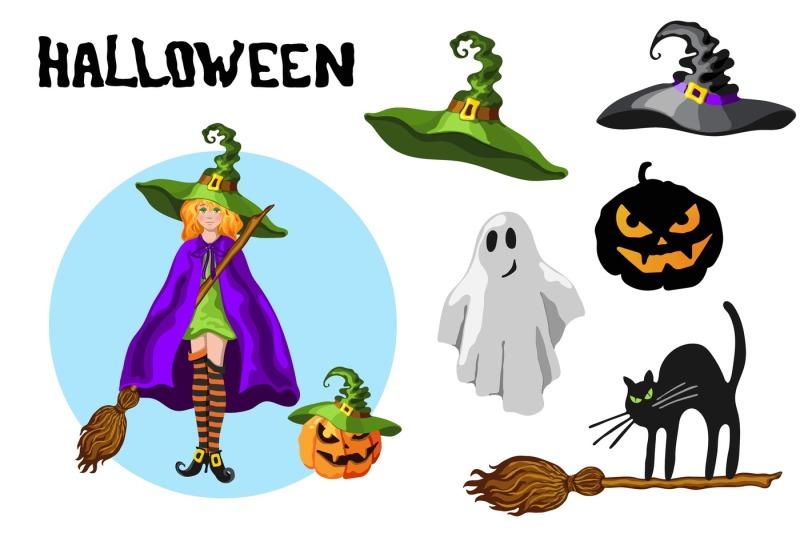 Set of Halloween Cartoon Characters - 800 3495446 bb437e2365c86969957485e9c4a42bb9832e0f9c halloween cartoon style graphic set