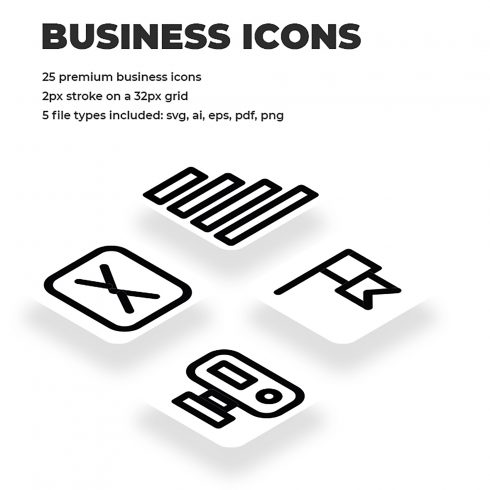 Fine Line Business Icons